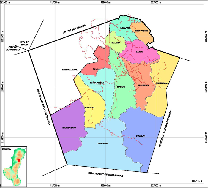 Map of Canlaon City